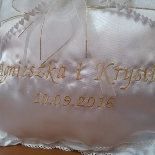 Poduszka z haftem
