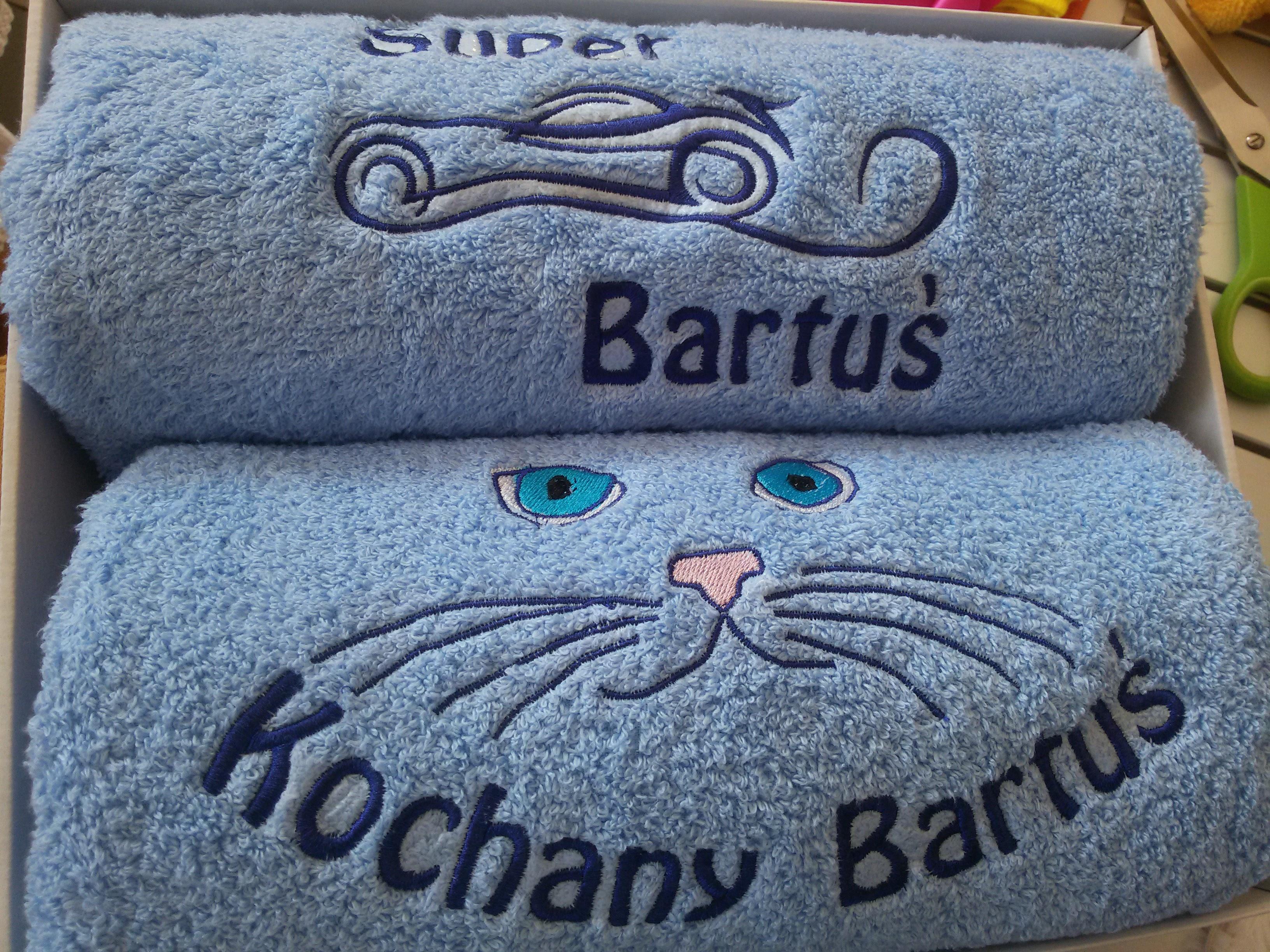 Zestaw recznikow dla Bartka